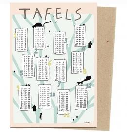 postkaart 'Tafels Bos' (A5)