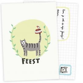 Uitnodiging kinderfeestje | Verjaardagstaart