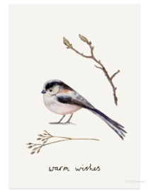 Christmas card | long tailed tit