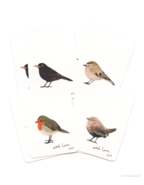 Mini kaartjes | vogels (set)