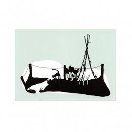 postkaart 'Konijnenhol'