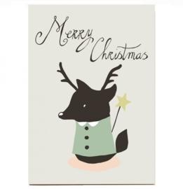 Christmas card 'Christmas fox' medium