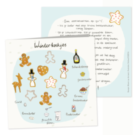 Recipe greeting card | winter cookies