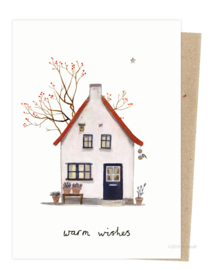 Christmas card | house with berry tree