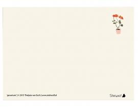 postkaart 'Geranium'