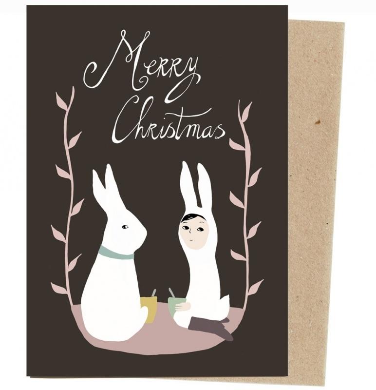 Christmas card 'Christmas rabbit' medium