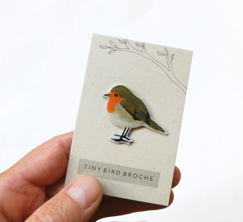 mini broche vogel | Roodborstje