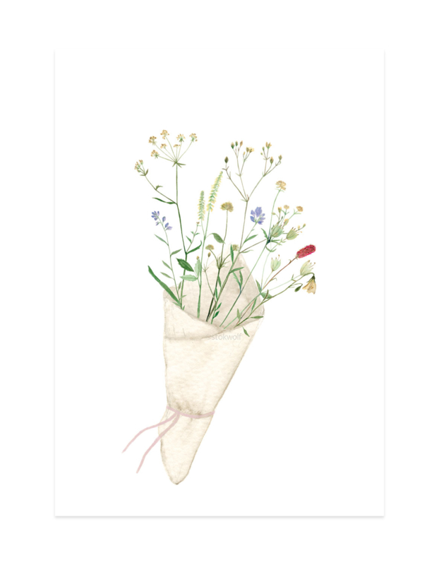 mini kaartje | Bloemen
