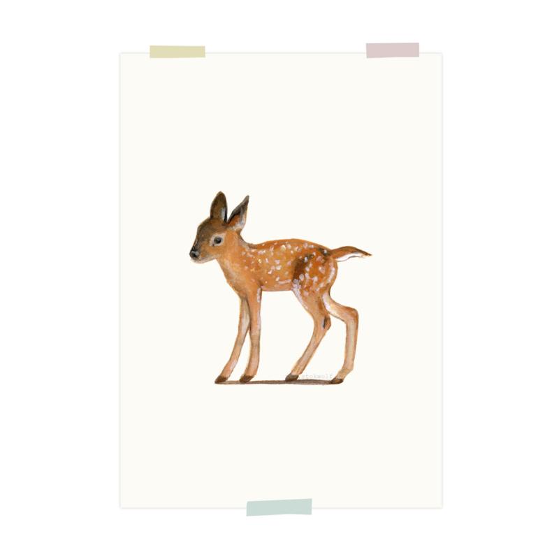 print | Jong edelhert