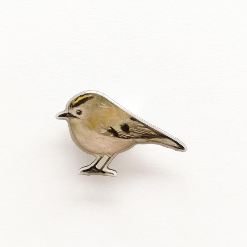 mini broche vogel   Goudhaantje