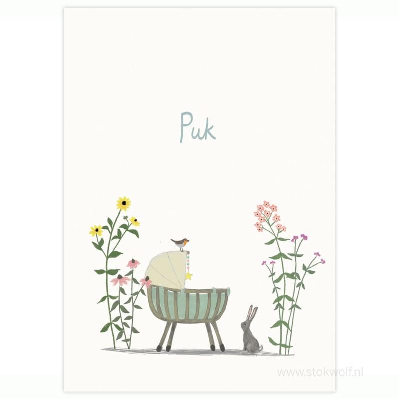 proefkaart | Bloemenweide (gevouwen)