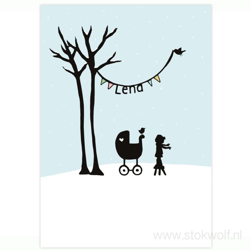 proefkaart | Berkenboompjes winter (enkel)