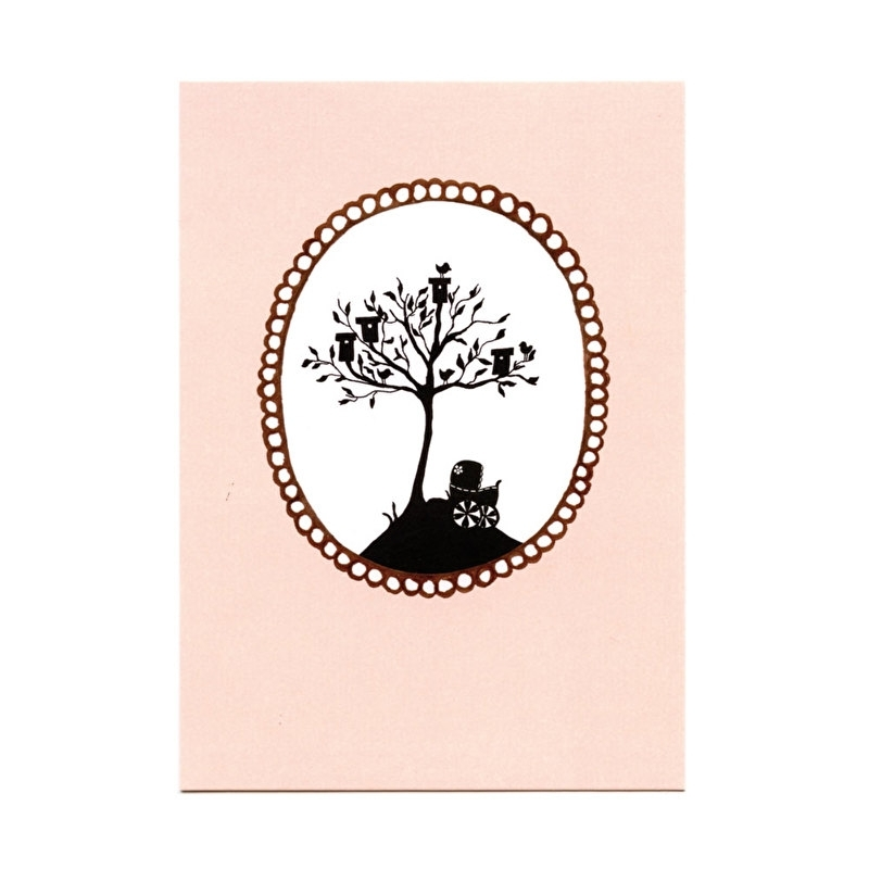 postcard 'Birdhouse tree'