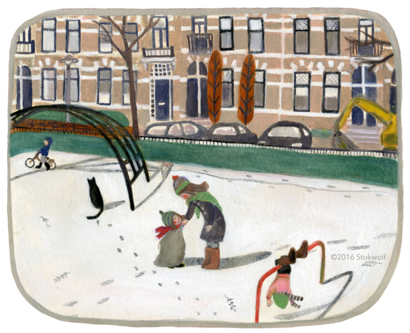 Winter at the Graaf Ottoplein (2016)