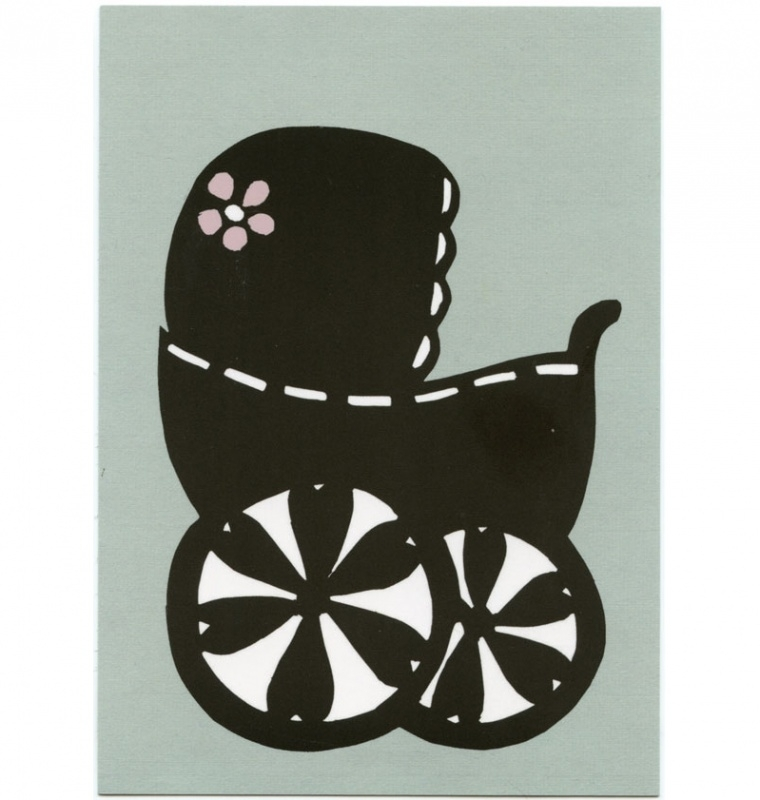 postcard 'Pushchair'