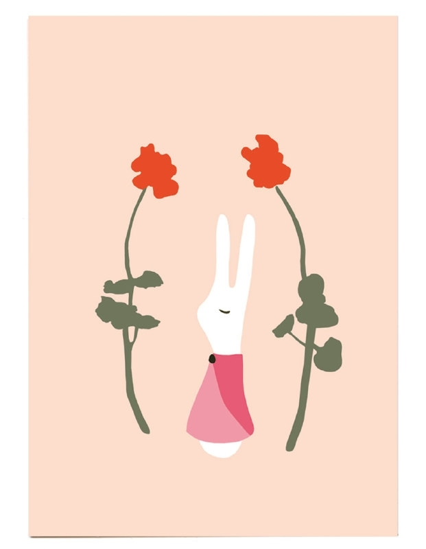 print | Rabbit girl