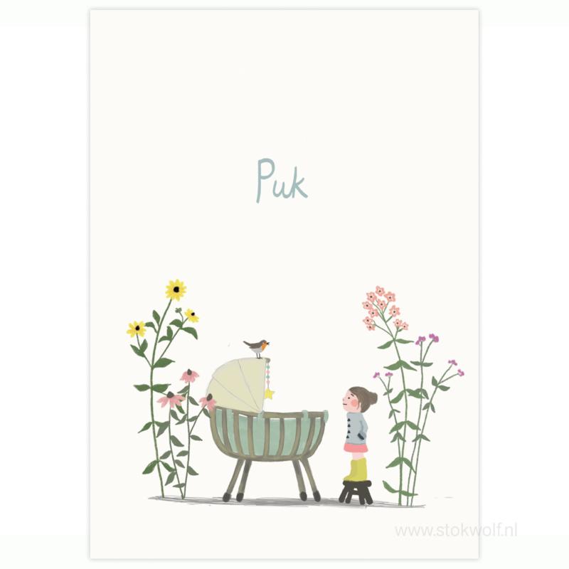 proefkaart | Bloemenweide & grote zus (gevouwen)