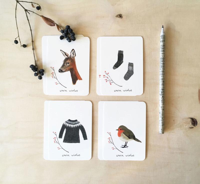 mini kaartjes | Winter (set)