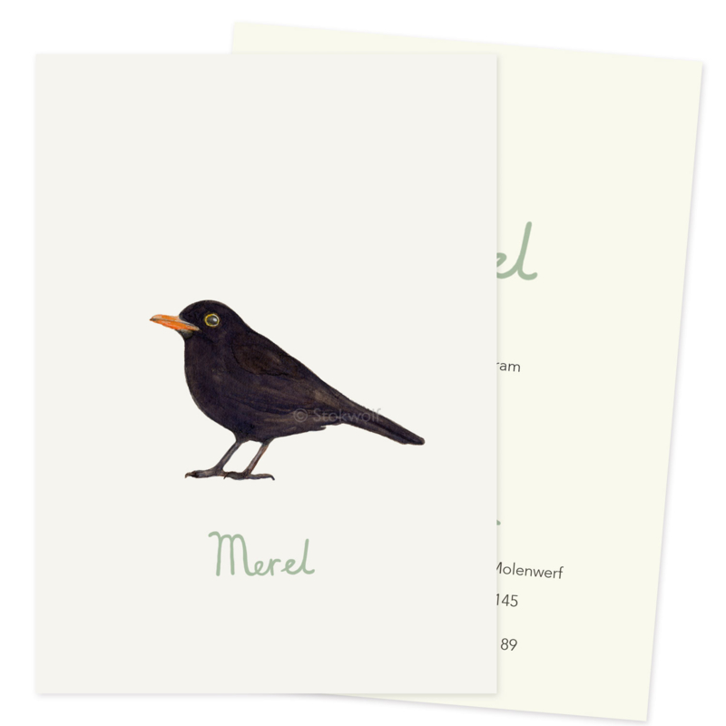 proefkaart | Merel (enkel)