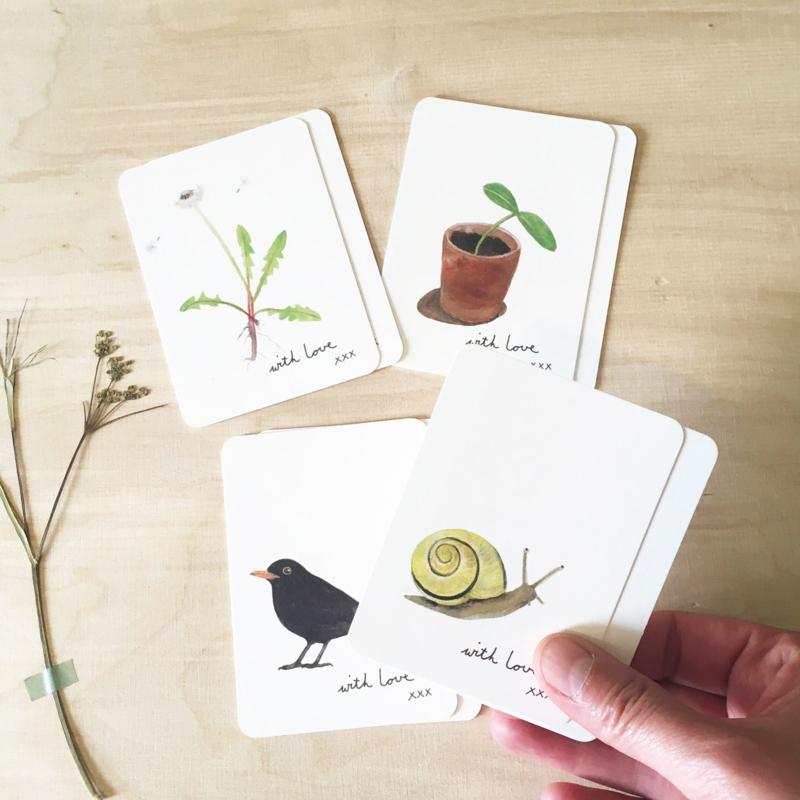 mini kaartjes   Tuin (set)