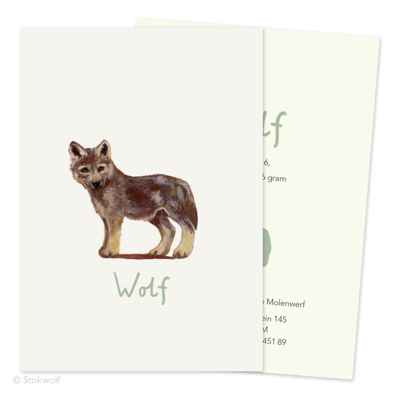 Birth card 'Young wolf'