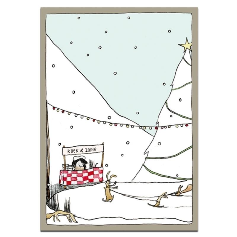 Kerstkaart | koek en zopie