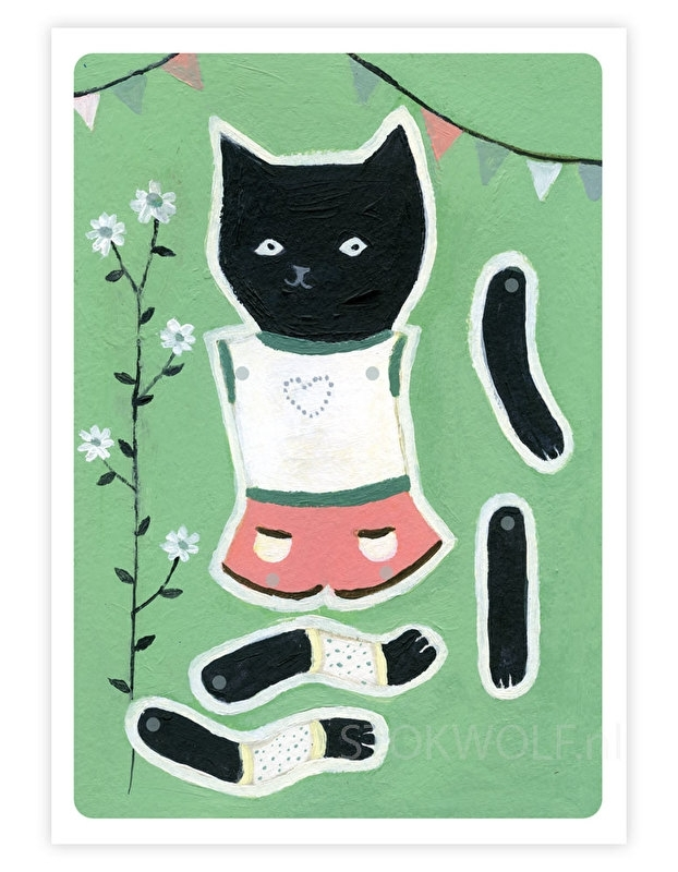 Paper doll 'Black cat'