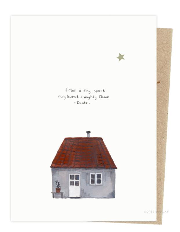 Kerstkaart | mini huisje