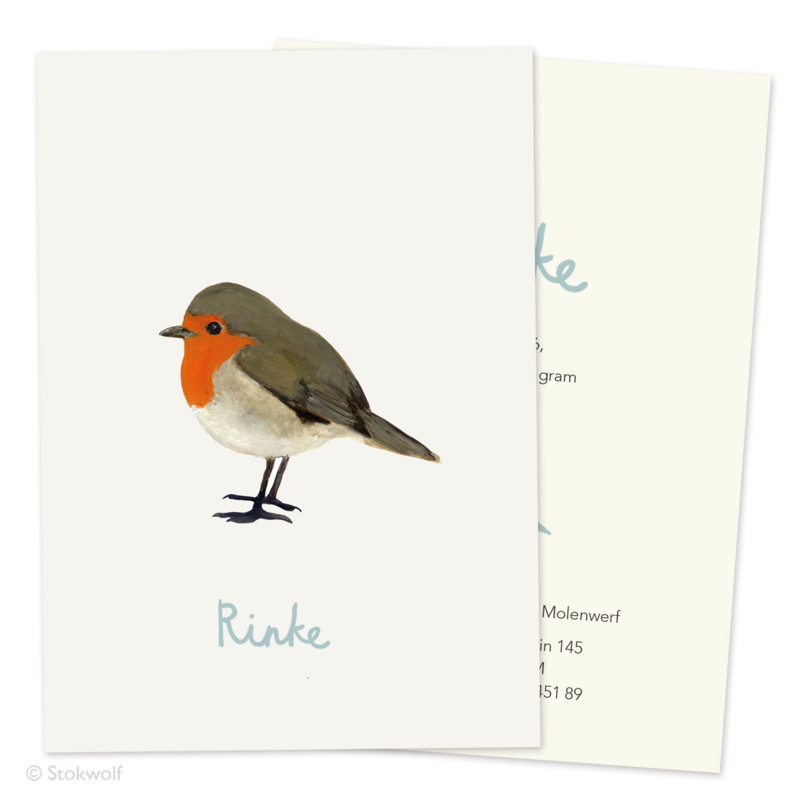 Birth card 'Robin'