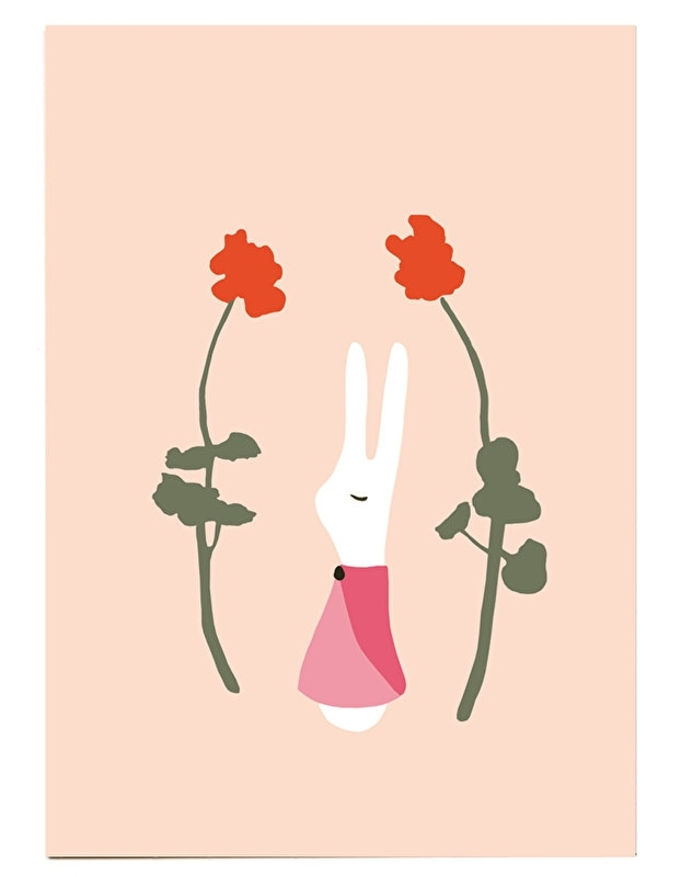 postcard 'Rabbit girl'