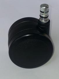 Set wielen, zacht voor harde vloer, alternatief CR, zwart