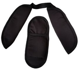 Buffalo pads Zwart (Softshell)