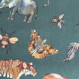 Hoeslaken Jungle dieren (katoen)