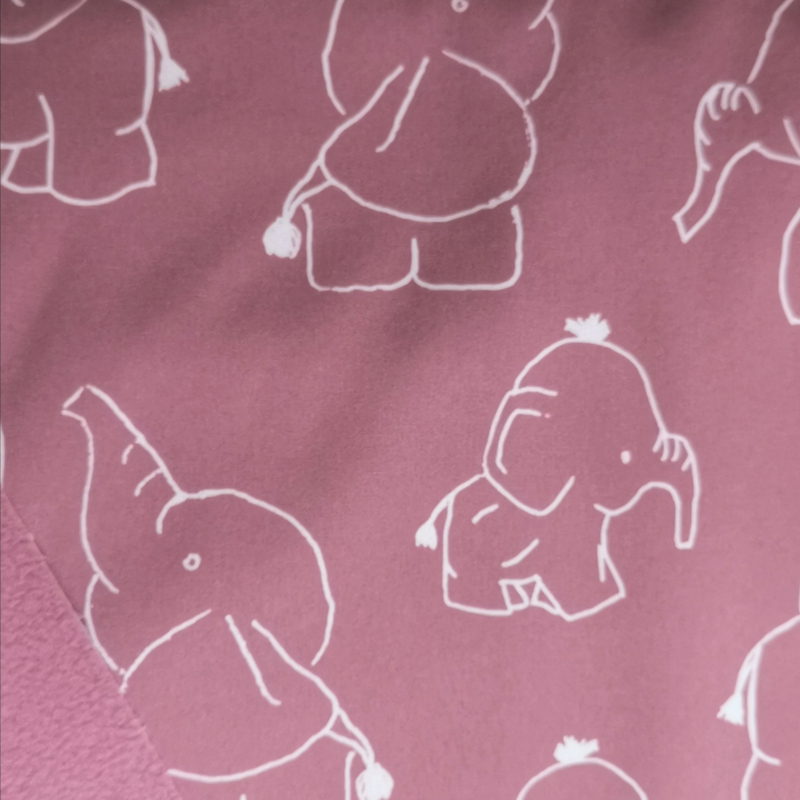 Mura pads Elephant Old pink  (Softshell)