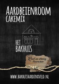 Aardbeien-room cakemix 400 gram