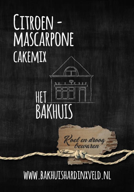 Citroen Mascarpone cakemix 400 gram