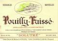 Vins Auvigue Pouilly Fuisse Solutre 2018