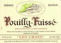 Vins Auvigue Pouilly Fuisse Les Crays Bourgogne 2018 White