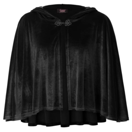 Zwart Gothic Lolita Victoriaanse Velours Poncho cape 2XL K1615