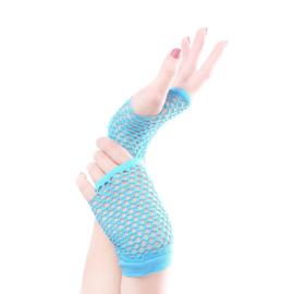 Gothic Lolita Net handschoenen Kort ( Kleur Licht Blauw ) K1407