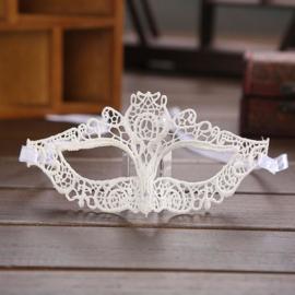 Witte Kant Gothic Lolita Masker S9077