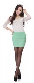 Mint Groen Taille Slim Strets Rok Kort S,M,L,XL  K531