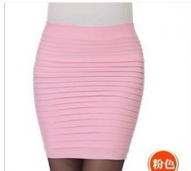 Licht Roze Taille Slim Strets Rok Kort S,M,L,XL  K535