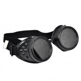 Gothic Lolita Emo Steampunk Goggles Bril Zwart  S3645