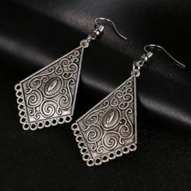 Bohemian Tibetaan Zilver filigraan Oorbellen S9995