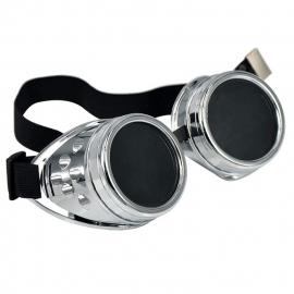 Gothic Lolita Emo Steampunk Goggles Bril Antiek Zilver S3644