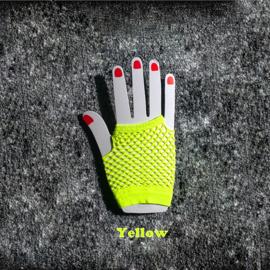 Gothic Lolita Net handschoenen Kort (Kleur  Geel  ) K1400