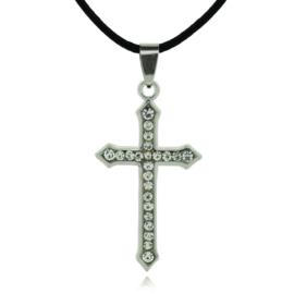 Zilveren Gothic Lolita Ketting met kruis hanger S9117