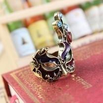 Bronze Ring  met Victoriaanse Masker  S3574