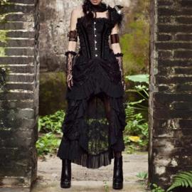 Zwart Victoriaanse Gothic Steampunk Dark Romance van  KuroNeko S  K15781